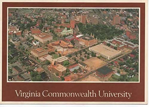 Postcard, Virginia Commonwealth University, VCU, Richmond VA, Aerial Photograph
