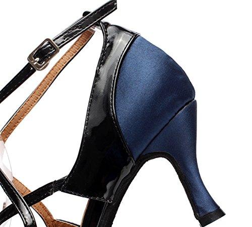 JSHOE Chaussures De Danse Latine Pour Femme Salsa/Tango/Thé/Samba/Moderne/Jazz Chaussures Sandales Talons Hauts,D-heeled7.5cm-UK3.5/EU34/Our35