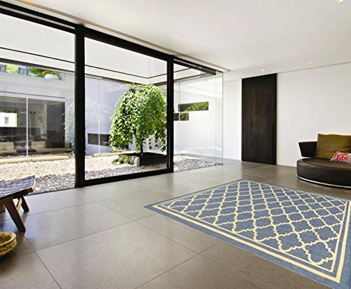 Indoor Outdoor Sisal Rug - Ottomanson Jardin Collection sisal Rug, 5'3