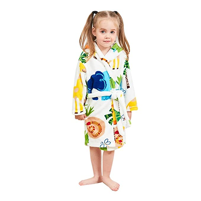 Children Hooded Bathrobes Cartoon Kids Robes Flannel Child Boys Girls Robes Lovely Animal Hooded Bathrobe Cartoon Animal Attractive Fashion Men's Sleep & Lounge
