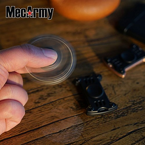GP1 Titanium Fidget Spinner, Hand Excise, Relieves Stress and Anxiety, MecArmy (black) by MeCarmy (Image #4)