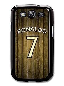 Ronaldo Wood Style Fotball Design case for Samsung Galaxy S3 526C