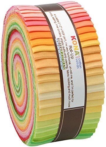 科纳棉固体日出易拉宝43 2.5英寸的长条果冻卷罗伯特·考夫曼面料RU-262-43