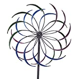 JAXPETY 79'' Large Garden Metal Kinetic Rainbow Wind Spinner Outdoor Lawn Decor Yard Art