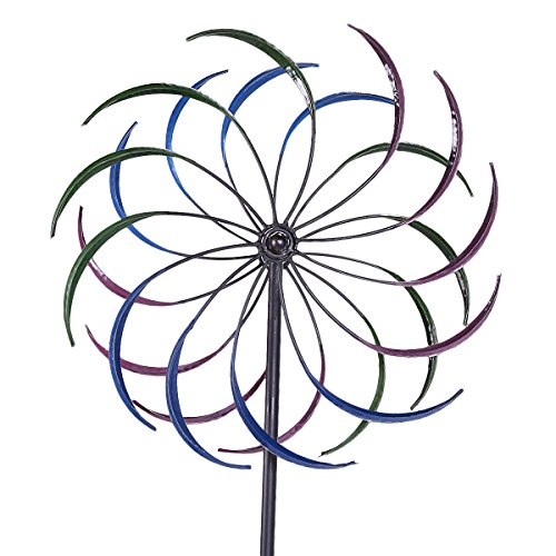JAXPETY 79'' Large Garden Metal Kinetic Rainbow Wind Spinner Outdoor Lawn Decor Yard Art by JAXPETY