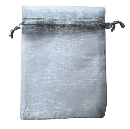 silver drawstring organza pouch strong