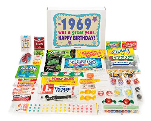 (Woodstock Candy ~ 1969 50th Birthday Gift Box Vintage Nostalgic Candy Assortment from Childhood for 50 Old Man or Woman Born 1969)