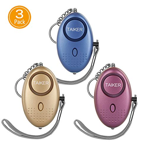 Personal Alarm for Women 140DB Emergency Self-Defense Security Alarm Keychain with LED Light for Women Kids and Elders-3 Pack (Best Self Defense Weapons For Female)