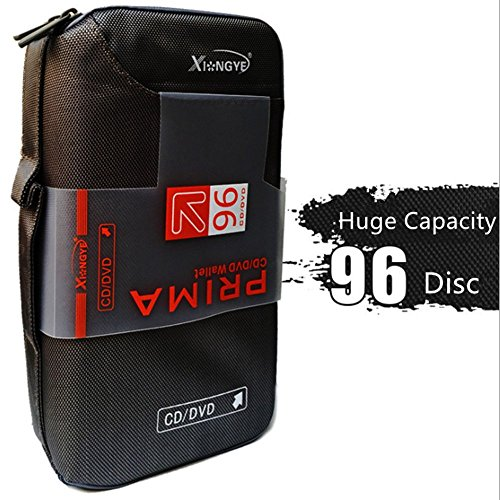 96 CD/DVD CD Case Binder Portable Huge Capacity Disc Container (Cd Storage Container)