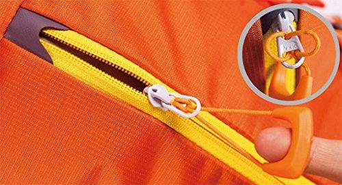 Profesional al aire libre del alpinismo mochila bolsa de gran capacidad de excursión recorrido del bolso del morral del hombro acampar hombres y mujeres ( Color : Naranja , Tamaño : 56-75L ) Naranja