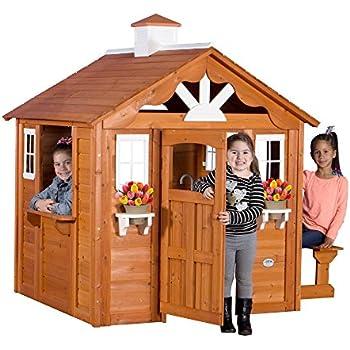 Backyard Discovery Summer Cottage All Cedar Wood Playhouse