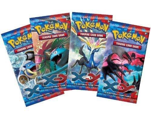 Pokemon XY Lot of 4 Unopened Booster Packs Photo - Pokemon Gaming
