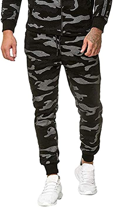 Daoroka - Pantalones de Deporte para Hombre, diseño de Camuflaje ...