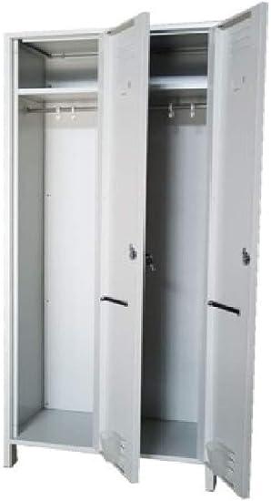 Schließfachschrank Garderobenschrank Blechschrank Fächerschrank Spind Stahl