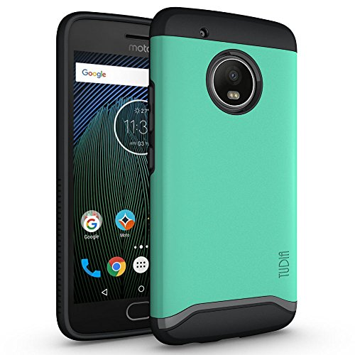 Price comparison product image TUDIA Moto G5 Plus Case, Slim-Fit HEAVY DUTY [MERGE] EXTREME Protection / Rugged but Slim Dual Layer Case for Motorola Moto G5 Plus (Mint)