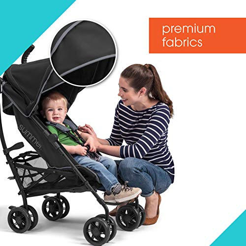 51WhjSzIWHL - Summer 3Dlite+ Convenience Stroller, Matte Black – Lightweight Umbrella Stroller With Oversized Canopy, Extra-Large Storage And Compact Fold