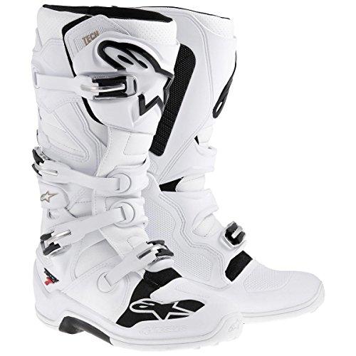 Alpinestars Tech 7 Boots , Primary Color: Black, Size: 13, Distinct Name: Black/Red/Yellow, Gender: Mens/Unisex 201201413613 by Alpinestars Weiß
