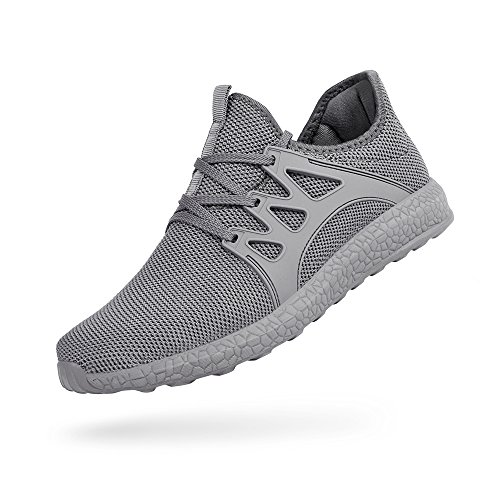 Troadlop Womens Fashion Sneakers Ultra Lightweight Knitted Running Shoes Athletic Casual Walking, Gray-9 US