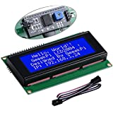 GeeekPi LCD 2004 Module with I2C Interface Adapter Blue Backlight 2004 20x4 LCD Module Shield for Raspberry Pi Arduino Uno