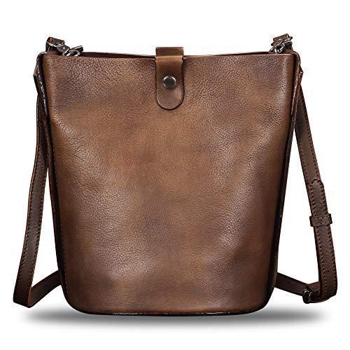 Genuine Leather Crossbody Bags for Women Handmade Vintage Top Handle Handbags Purses