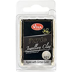 Viva Decor Pardo Jewelry Clay, 56g, Agate With Gold Glitter