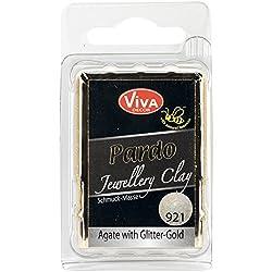 Viva Decor Pardo Jewelry Clay, 56g, Agate With Gold Glitter
