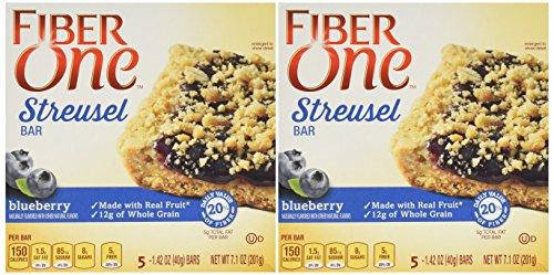 Fiber One Streusel Bar Blueberry 5-1.42 Bars Per Box - Pack of 2