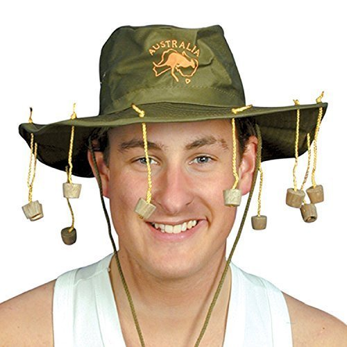 2 X Australian Hat with Corks by (Australian Hat With Corks)