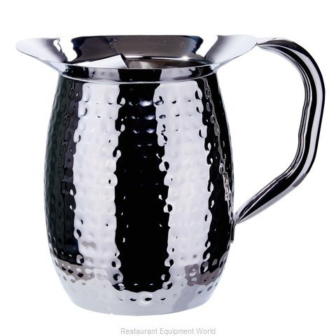 Winco WPB-3H, 3-Quart Hammered Bell Pitcher, Sophisticated Carafe, Stainless Steel (6 PACK)