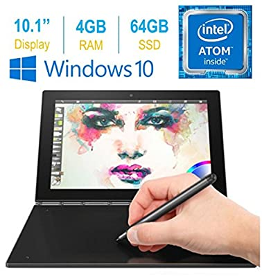"Lenovo Yoga Book 10.1"" FHD Touch IPS 2-in-1 Convertible Tablet PC, Intel Atom x5-Z8550 1.44GHz, 4GB RAM, 64GB SSD, Bluetooth, HD Graphics"