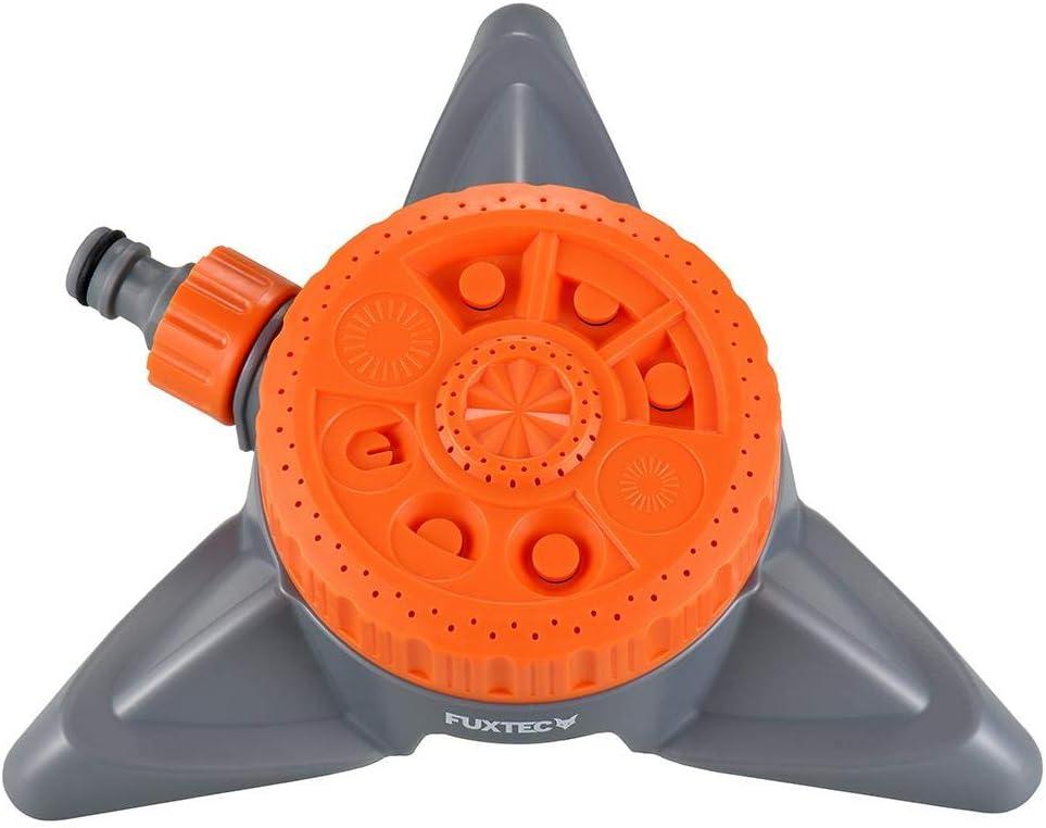 Standsicher inkl Schmutzsieb Fuxtec 8-Fl/ächenregner FX-8FRG1 Rasensprenger mit 8 Spr/ühfunktionen Bew/ässerungsfl/äche ca 50m/²