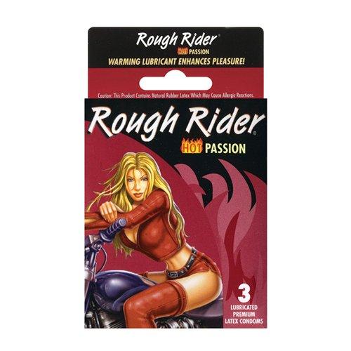 (Contempo Rough Rider Studded Hot Passion Condom, 3 Count )