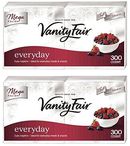 Vanity Fair Everyday Napkin, 300 Count, 2 Packs by Vanity Fair