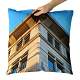 Westlake Art - Building Commercial - Decorative Throw Pillow Cushion - Picture Photography Artwork Home Decor Living Room - 26x26 Inch
