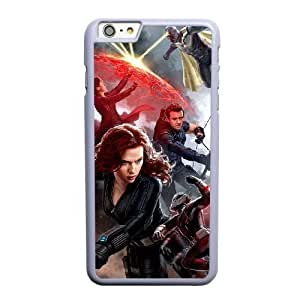 Custom made Case,Captain America 3 Civil War Cell Phone Case for iPhone 6 6S 4.7 inch, White Case With Screen Protector (Tempered Glass) Free S-7312976