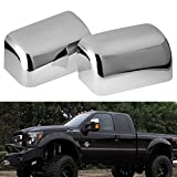 ford chrome accessories - Top Half Mirror Cover Fits 2008-2016 Ford F250 F350 F450 Super Duty Triple Chrome Plated (One Pair)