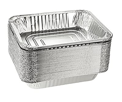 Emmner Disposable Steam Table Pans for Baking, Roasting, Aluminum Foil Pans, Half Size Deep, 9x13 Pans Pack Of 30