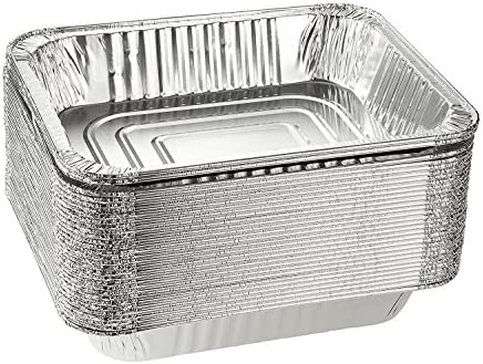 Emmner Disposable Steam Table Pans for Baking, Roasting, Aluminum Foil Pans, Half Size Deep, 9×13 Pans Pack Of 30