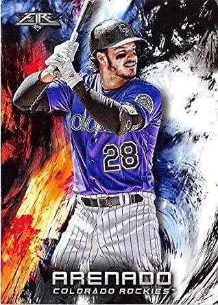 b6d3e63723839 Amazon.com: 2018 Topps Fire Baseball #143 Nolan Arenado Colorado ...