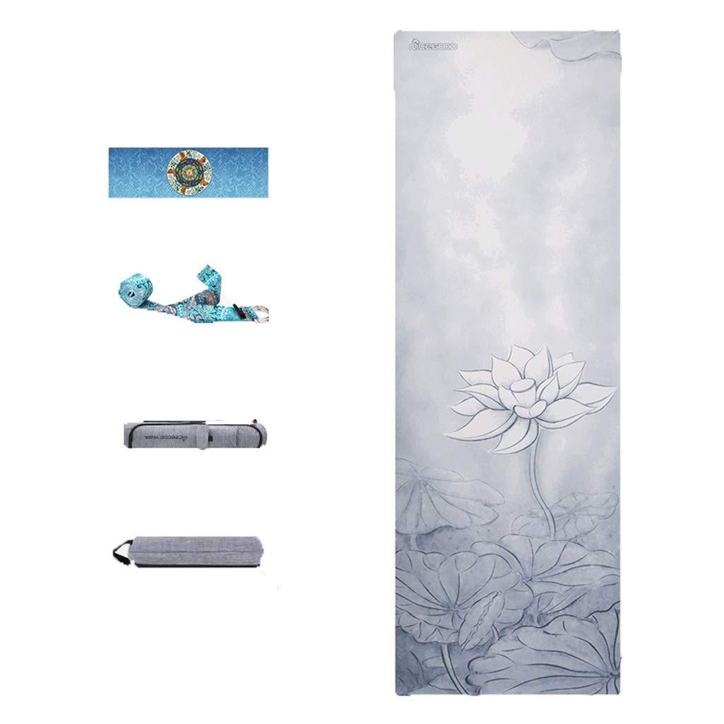 A 18306103.5MM Unbekannt Yoga Design Lab, rutschfestes Yogamattentuch aus Naturkautschuk, Faltbare Fitnessdecke für den Haushalt, dreiteilig