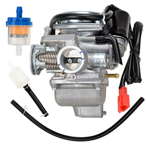 HIAORS 150cc Carburetor PD24J Carb for GY6 4 Stroke Hammerhead Twister 150 Go Kart Motorcycle Scooter 152QMJ 157QMI Eagle Taotao Panterra Kymco 4 Wheeler Dune Buggy Moped Scooter Parts