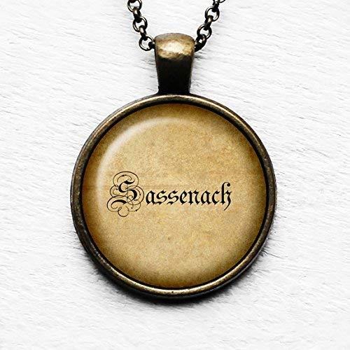Outlander Sassenach Spelling 2 Book TV Spelling Pendant & Necklace