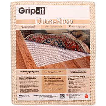Grip It Ultra Stop Non Slip Rug Pad For Rugs On Hard Surface Floors, 9 By  12 Feet