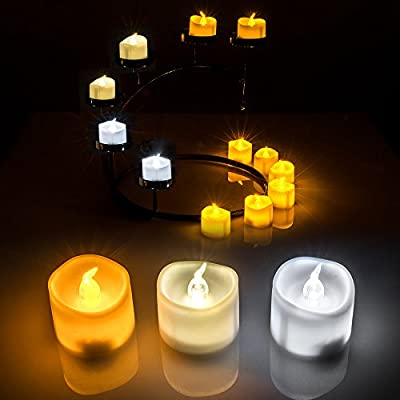 [2015 New]AGPTEK® 6pc set LED Tealight Candles Battery Operated Flameless smokeless for Wedding/Party Decorations, Powered by CR2032 Button Cell Battery, Cool White/Warm White/Amber Yellow for choose