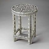 Butler Accent Table Bone Inlay Handmade Furniture