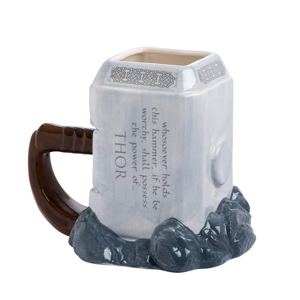 EASTVAPS Taza de Modelado Thor 3D Vaso de Agua Animado de Gran Volumen Taza de cer/ámica Martillo