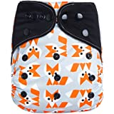 """HappyEndings """"Night, Night""""» Charcoal Bamboo All In One Diaper (+Pocket & 5 Layer Charcoal Bamboo Insert) """"Foxy"""""""