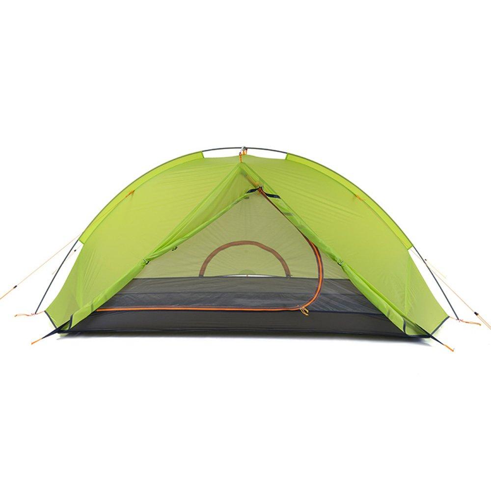 1 Person-Zelt-Doppelt-Camping-Zelt-Im Freien Falten Zelt-Tragbares Regen-Beweis Faltbares Für Kampierendes Im Freien Silikon-Aluminium Nylon