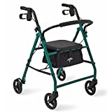 Medline Basic Steel Rollator with 6-Inch Wheels, Green