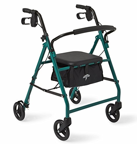 Medline Standard Folding Rollator Walker